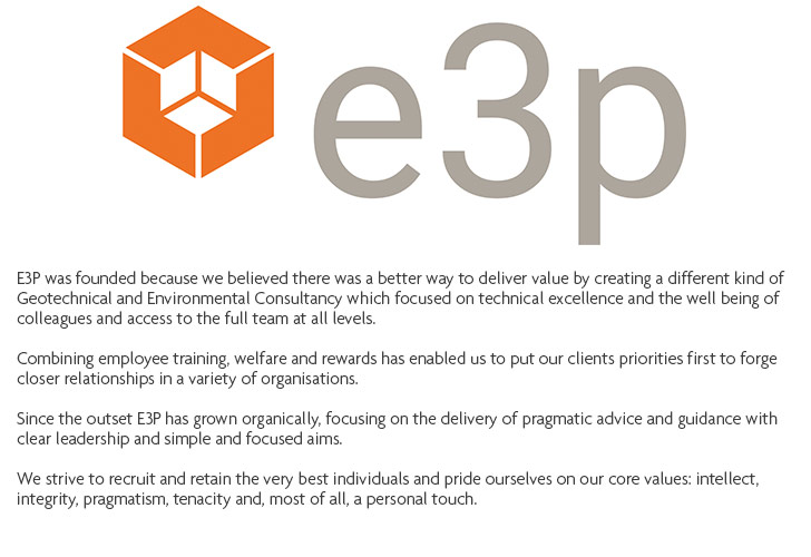 Image of E3P logo with description text